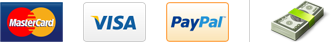 MasterCard Visa Paypal Cash